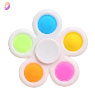 HONE Con Quay Fidget Spinners 2 Trong 1, Đồ Chơi Đơn Giản Để Lúm Đồng Tiền Đồ Chơi Giảm Căng Thẳng Cho Trẻ Em Bong Bóng Đẩy Đồ Chơi Cảm Giác Cho Người Lớn thumbnail