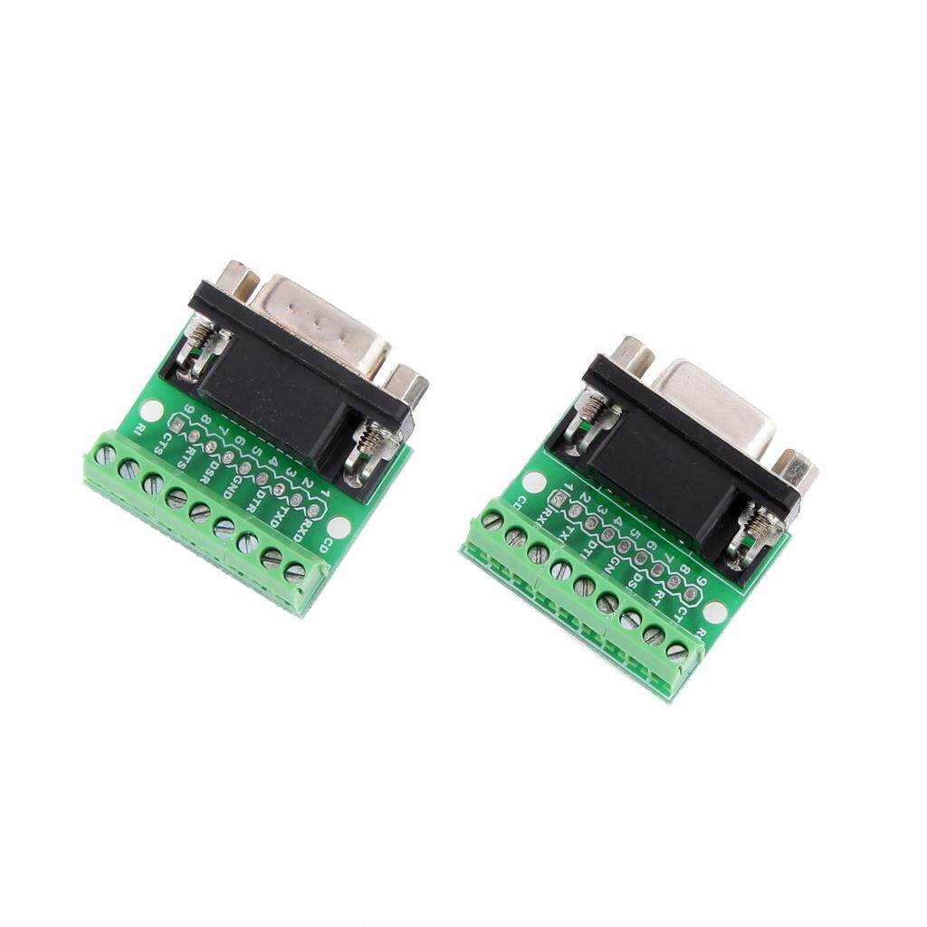 BolehDeals 9Pin DB9 SolderlessTerminal Female/ Male RS232 RS485 Adapter Connector
