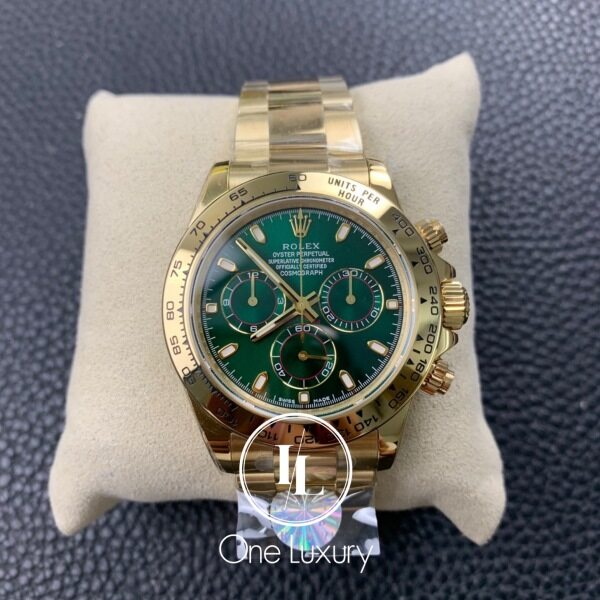 [ONE LUXURY] COSMOGRAPH DAYT0NA GREEN DIAL 18K YELLOW GOLD 116508 Malaysia