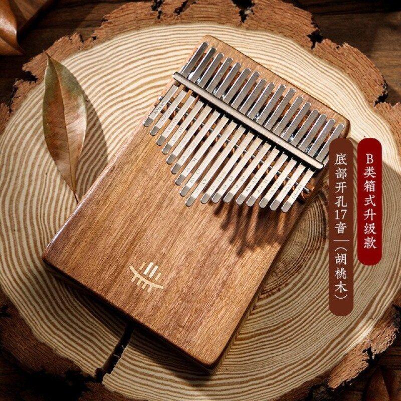 hluru Kalimba Thumb Piano wooden Gecko Full Solid Kalimba 17 Keys bottom hole mbira Mahogany Musical Instrument for beginner Malaysia