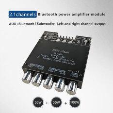 TPA3116D2 Bluetooth 5.0 2.1 Kênh Công Suất Âm Thanh Nổi Âm Thanh Loa Siêu Trầm Bảng Khuếch Đại 50WX2 + 100W Âm Trầm TREBLE Lưu Ý Điều Chỉnh AMP ZK-TB21
