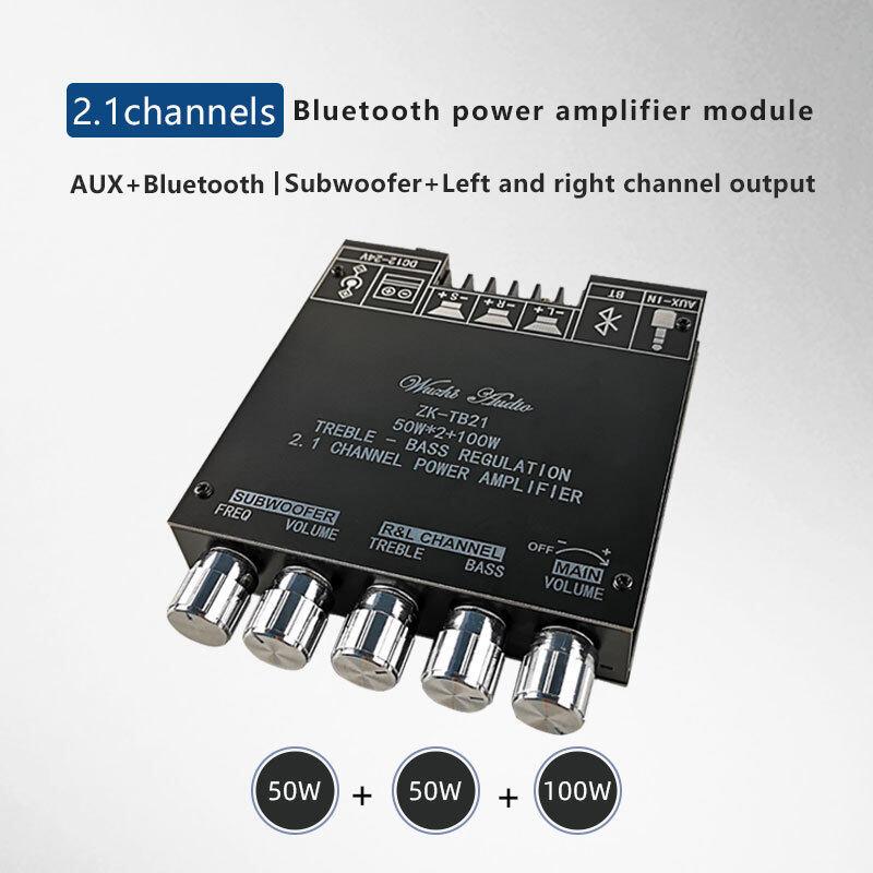 ZK-TB21 TPA3116D2 Bluetooth 5.0 Loa Siêu Trầm Bảng Khuếch Đại 50WX2 + 100W 2.1 Kênh Điện Bộ Khuếch Đại Âm Thanh Bảng Khuếch Đại Bass AMP