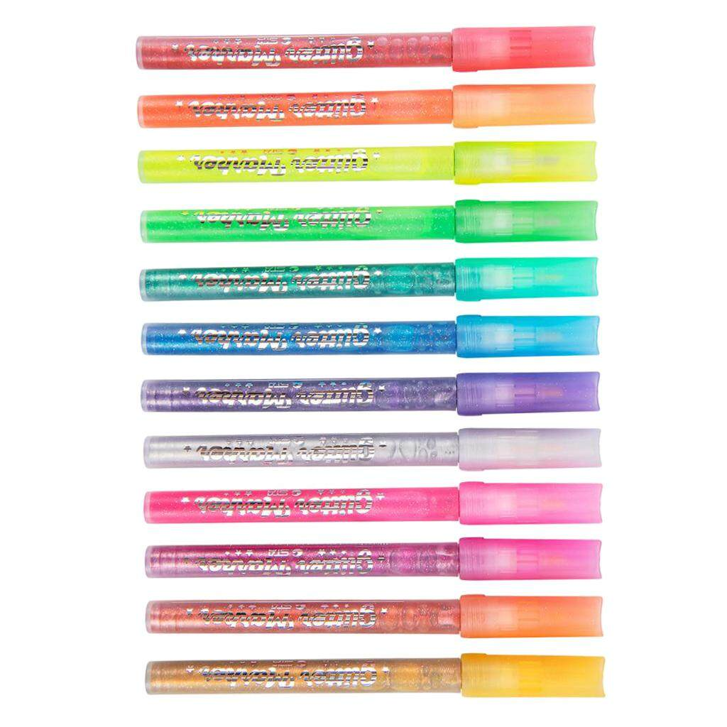 Mua Prettyia 12 Màu Sắc Lấp Lánh Bút Bút Tô Màu Bút Tranh Nghệ Thuật Đánh Dấu Highlighters