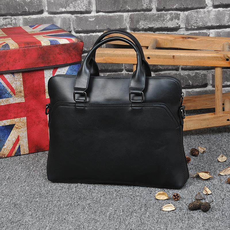 Men Briefcase Bag High Quality Business Famous Brand Leather Shoulder Messenger Bags Office Handbag 15 inch Laptop bag sling bag  Shoulder bags