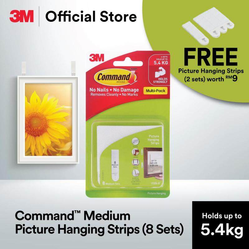 Command™ Medium Picture Hanging Strip Value Pack Free Picture Hanging Strips