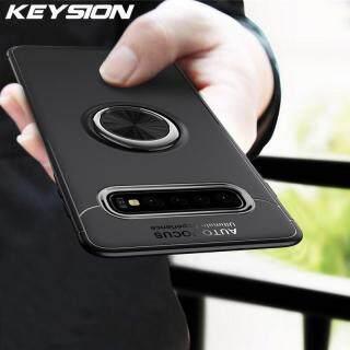 Ốp Lưng KEYSION Cho Samsung Galaxy S10 5G, Ốp Điện Thoại TPU Silicon Mềm Có Nhẫn Đeo Ngón Tay Bằng Kim Loại thumbnail