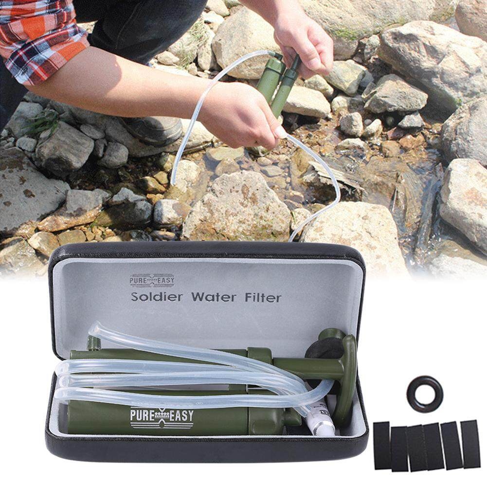 Camping Portable Pump Water Filter Emergency Water Purifier For Hiking Backpacking By Encua Store.