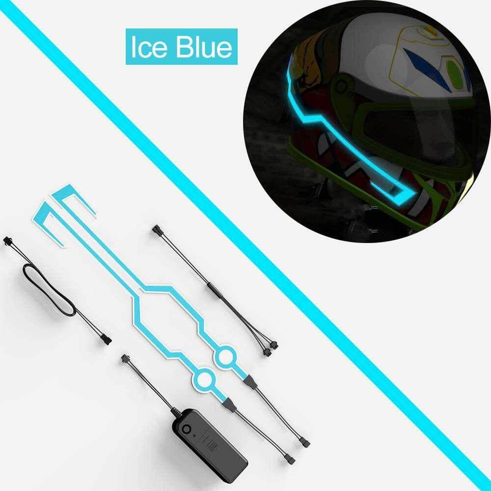 Quẹo 1 Xe máy EL Ánh Sáng Lạnh Mod Kit Trơn Nón Bảo Hiểm Chế Độ Ban Đêm Đi Tín Hiệu Đèn LED Nhấp Nháy dây thanh DIY