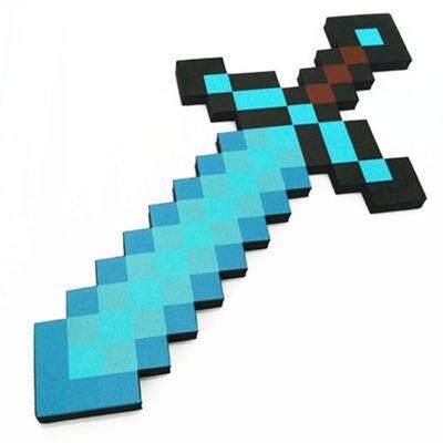 Kích Thước Nhỏ Minecraft Xanh Dương Diamondsword EVA Chơi Trò Chơi Trẻ Em Đồ Chơi Cho Bé Món Quà Cho Bé Trai Giá Tốt Không Thể Bỏ Qua
