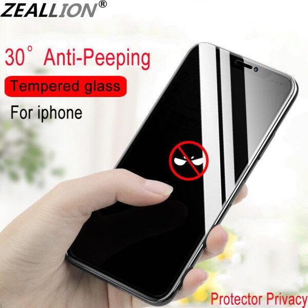 Zeallion 1 Cái Riêng Tư Đầy Đủ Nắp Kính Cường Lực Chống Nhìn Trộm Cho Iphone X XR XS Max 11 Pro Max Riêng Tư miếng Dán Màn Hình