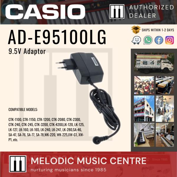 CASIO AD-E95100LG 9.5V AC Adaptor Power Supply for Casio Piano Keyboard (ADE95100LG / CASIO Adaptor) Malaysia
