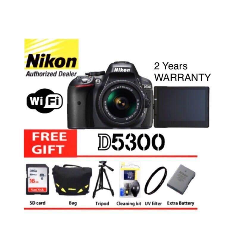 Nikon D5300 18 55mm Kit Dslr Camera Black