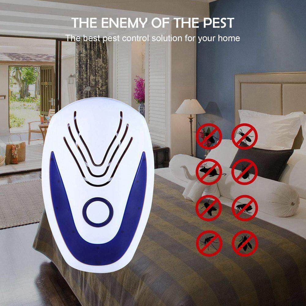 SeaLavender Electronic Ultrasonic Pest Control Repeller(1/6 Pack)Indoor Plug-In Repellent Repel Mouse,Bed Bugs,Mosquitoes,Roaches,Non-toxic Eco-Friendly,Human&Pet Safe