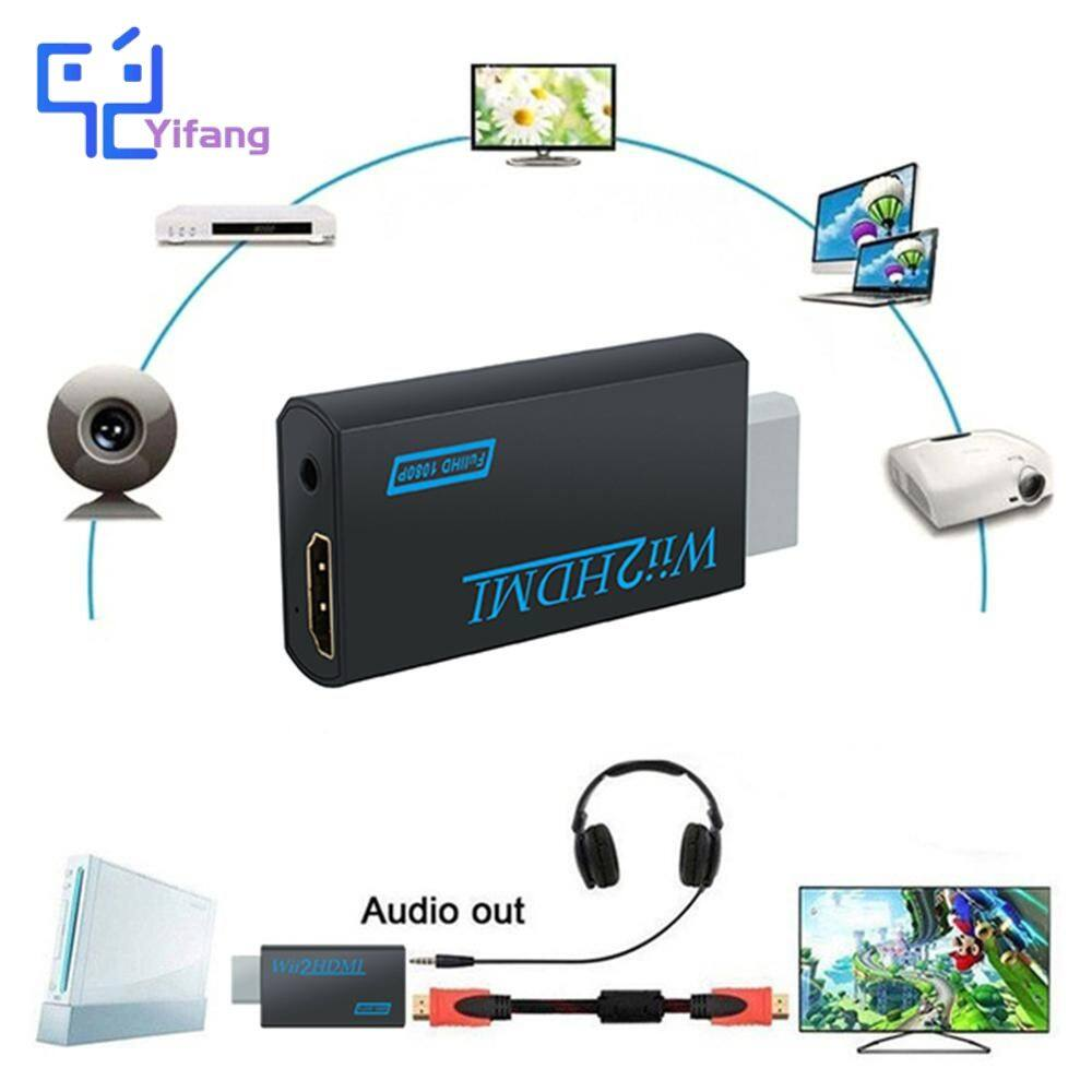 Yifang New For Wii to HDMI Converter Adapter FullHD 1080P Wii to HDMI Wii2HDMI Converter 3.5mm Audio for PC HDTV Monitor Display COD
