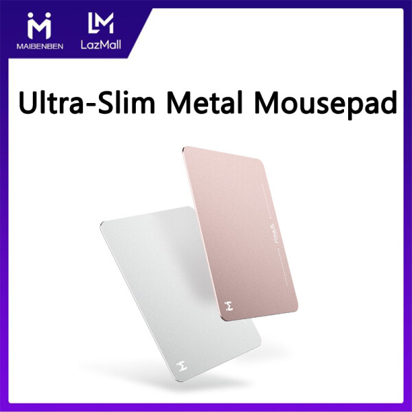 Giá Maibenben Basic Mousepads Ultra-Slim Aluminum Alloy Mouse Pad Computer Accessories Non Slip Metal Surface Leather Resin Bottom Large Size Free Shipping MP01
