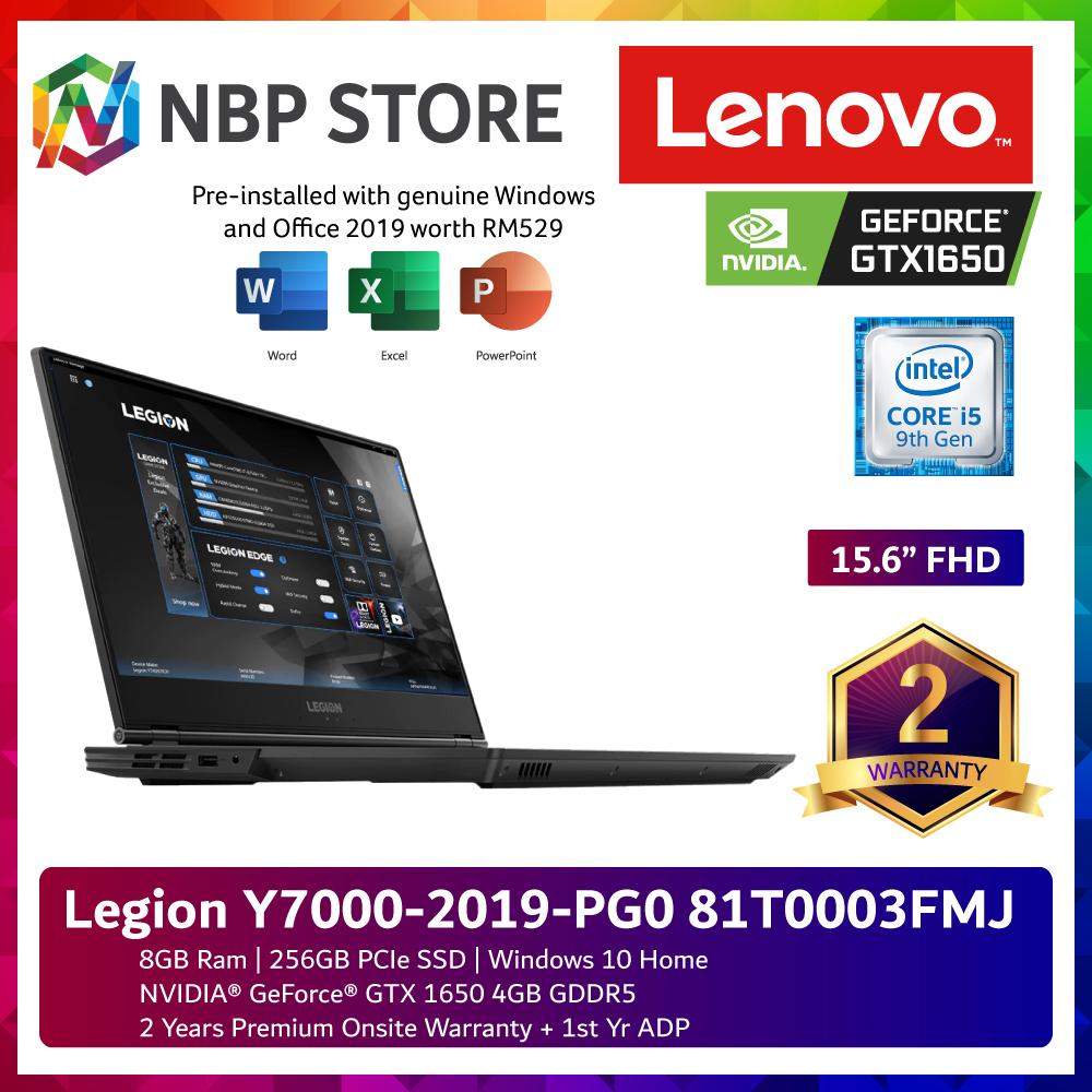 Lenovo Legion Y7000-2019-PG0 81T0003FMJ 15.6  FHD IPS Gaming Laptop ( i5-9300H, 8GB, 256GB, GTX1650 4GB, W10, H & Student ) Malaysia