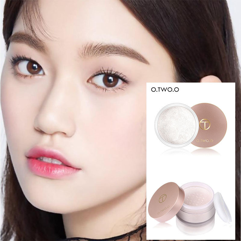 100 Original Cod O Two O Smooth Matte Loose Powder Makeup Transparent Finishing Powder Waterproof For Face Finish Setting With Cosmetic Puff Lazada
