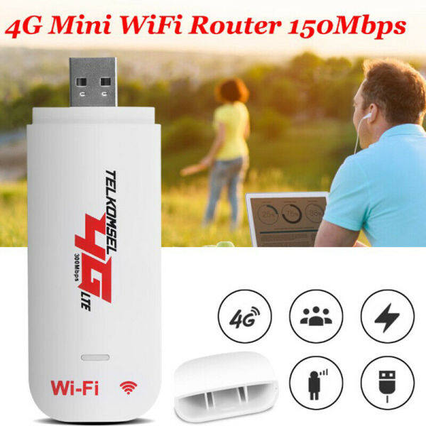 Bảng giá Unlocked 4G Router LTE WIFI Wireless USB Dongle Broadband Modem 150 Mbps Portable Car WIFI Router Hotspot Phong Vũ