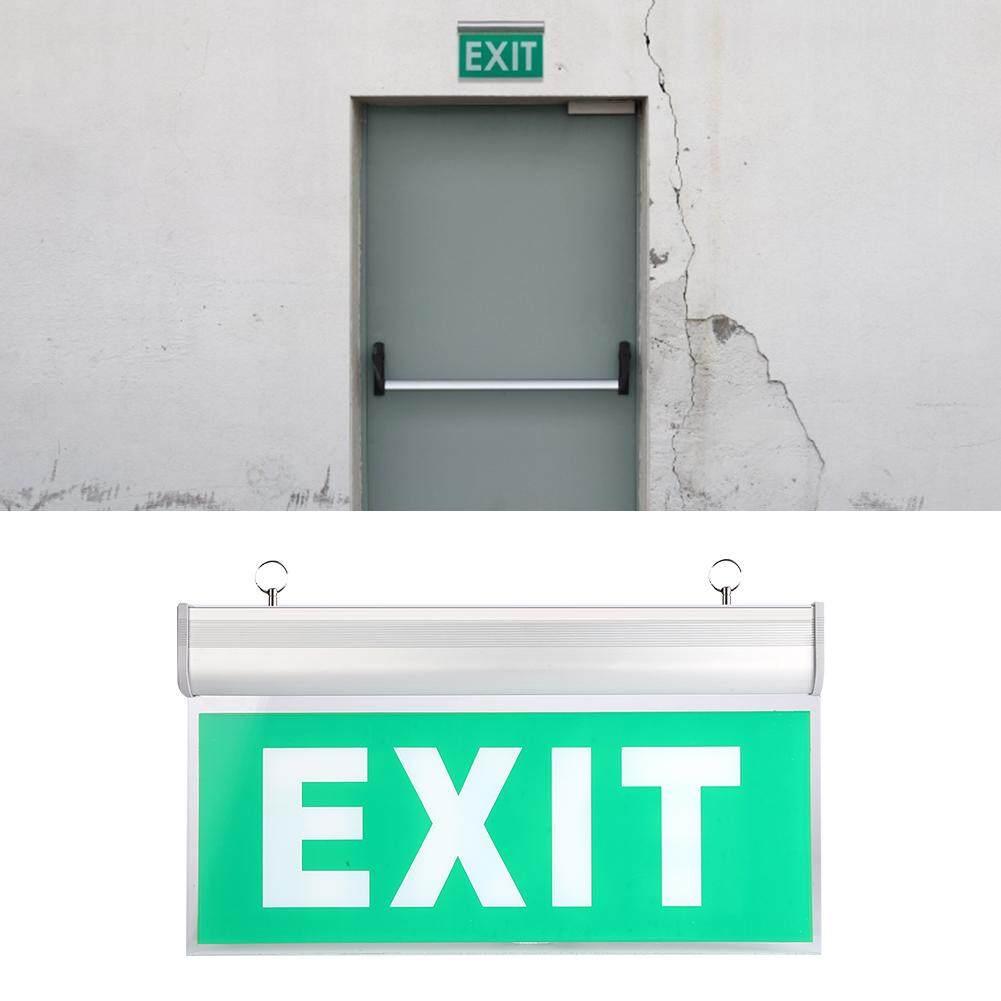 brsneffie 110-220V Acrylic 3W 12 LEDs Emergency Exit Sign Light Safety Indicator Lamp