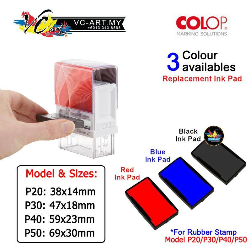 【VC-ART my】Customized Rubber Stamp - Colop P40 Printer