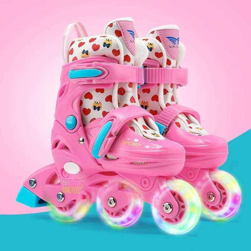 Phân phối Moven Trẻ Em Nội Tuyến Giày Trượt, Có Thể Điều Chỉnh Và An Toàn Bền Con Lăn Thời Trang Ngoài Trời