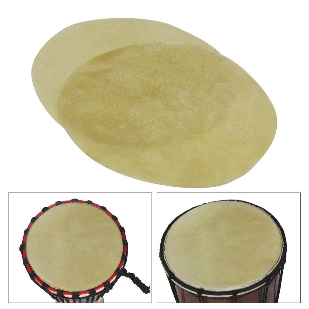 29cm/ 11.4in Drum Head Durable Buffalo Skin Round Drum Convers for Bongo African Drum Conga Konga Drums, 2pcs/pack