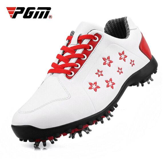 Giày chơi golf PGM cho nữ và Nữ, Giày Sneaker thể thao chơi gôn, giày không thấm nước và thoải mái, có đinh để chơi thể thao giá rẻ