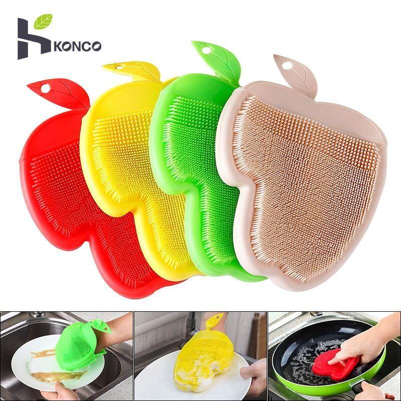 KONCO Găng tay rửa chén, đĩa silicon Găng Tay Rửa Bàn Chải, Chịu Nhiệt Máy Chà Sàn Găng Tay để Làm Sạch Nhà Bếp Rửa