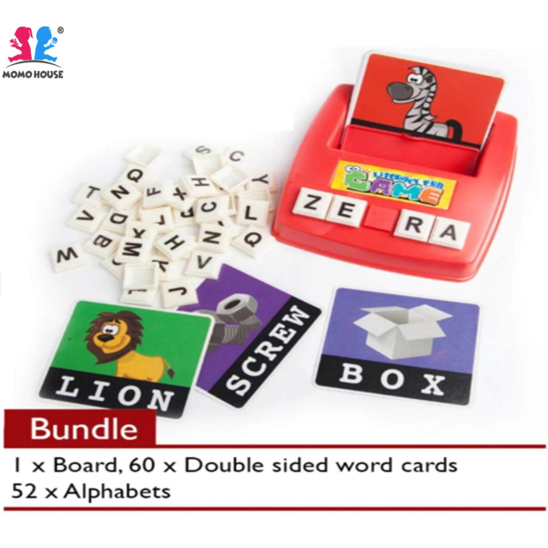Momo House Montessori Toys Literacy Fun Game English Spelling Family Fun Game By Momo House.
