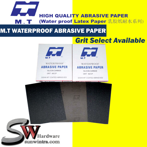 MT Waterproof Abrasive Sand Paper (9 x 11) Grit Selection Available