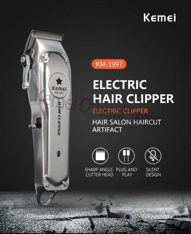 Giá Ưu Đãi Hôm Nay Để Có Ngay KM-1997 All-electric Electric Hair Clipper Professional Hair Clipper For Men Cut Hair Cutting Machine Haircut Compatible For Wahl Barber