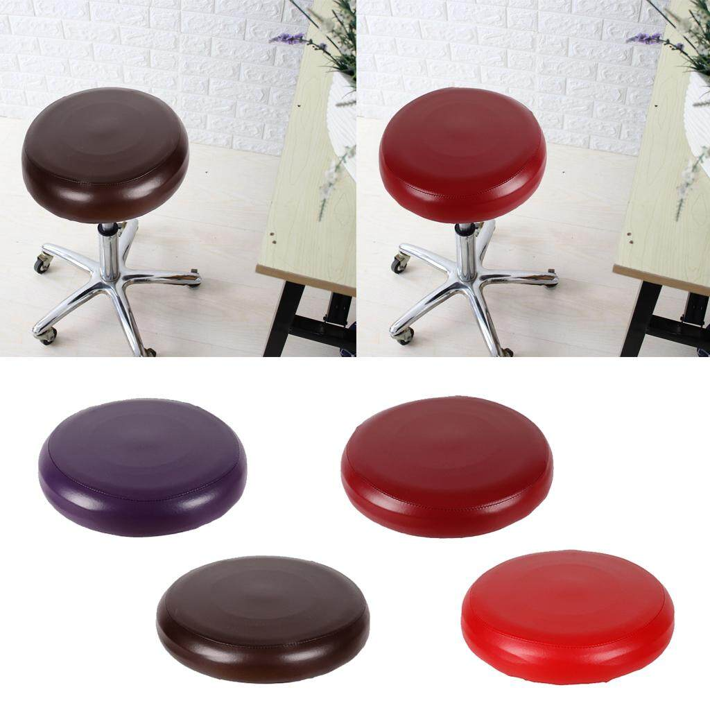 BolehDeals Pack 4- Home Bar Stool Covers PU Leather Round Chair Seat Cushions Sleeves