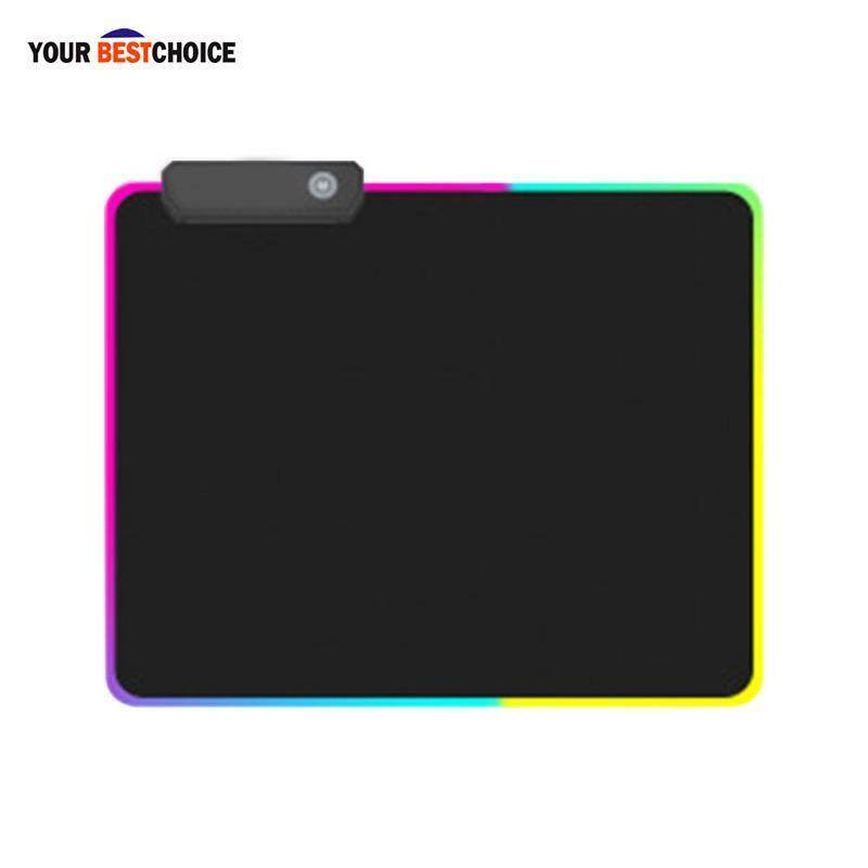 YBC Gaming Mouse Pad RGB Glowing LED Anti-slip Colorful for PC Computer Laptop Malaysia