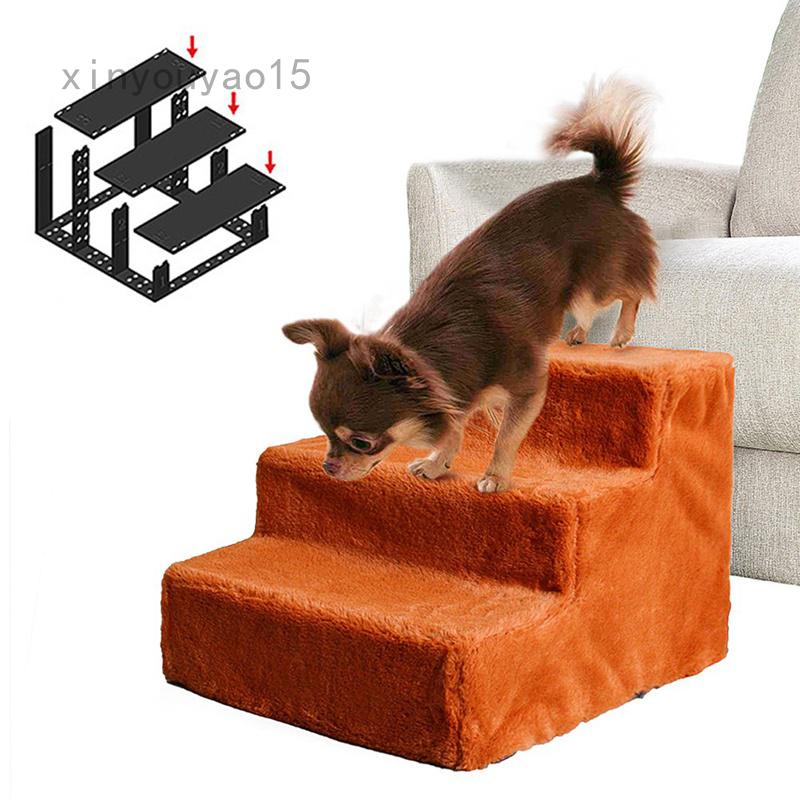 Cầu Thang cho thú cưng có thể giặt được, vỏ bọc bằng vải nhung lông cho giường sofa cho bậc thềm chó