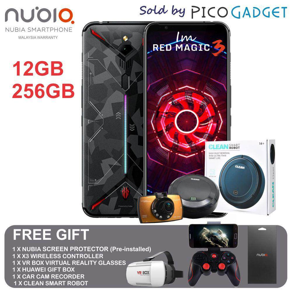 Nubia Red Magic 3 (12GB RAM + 256GB ROM) ORIGINAL MALAYSIA SET WITH 1 YEAR NUBIA MALAYSIA WARRANTY!! smartphone