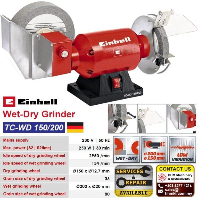 Einhell Wet-Dry Grinder Tc-Wd 150/200 By Hhm Machinery & Instruments Sdn Bhd.