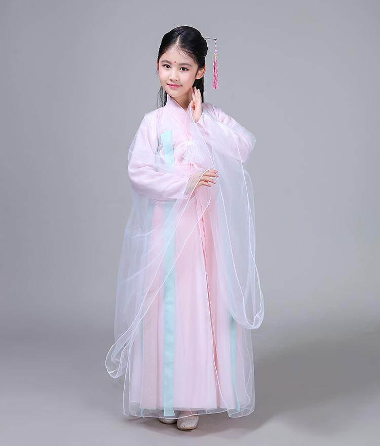 Giá bán Trẻ Em Trang Phục Hanfu Bé Gái 12-15 Tuổi Siêu Tiên Trung Quốc Phong Cách Thanh Lịch Guzheng Trang Phục Cổ Trang Phục Váy