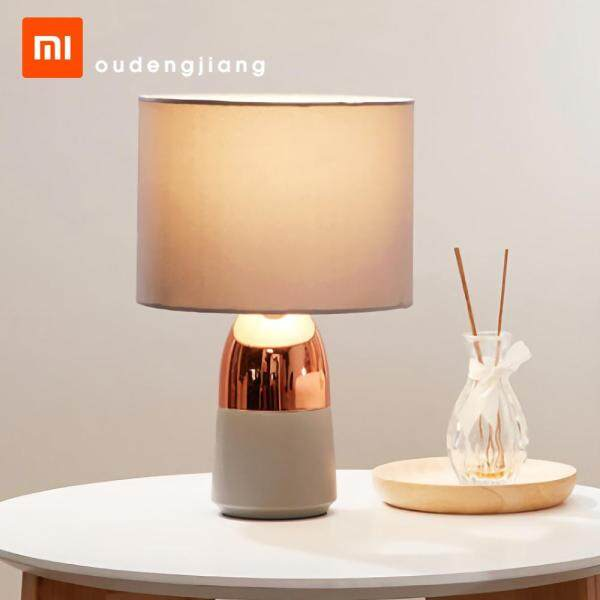 Xiaomi Youpin OUDENGJIANG N/A Bedside Table Lamp Nordic Lampshade 360°Touch Design Study Table Lamp Light Indoor 3000K Warm Shade for Living Room Family Bedroom