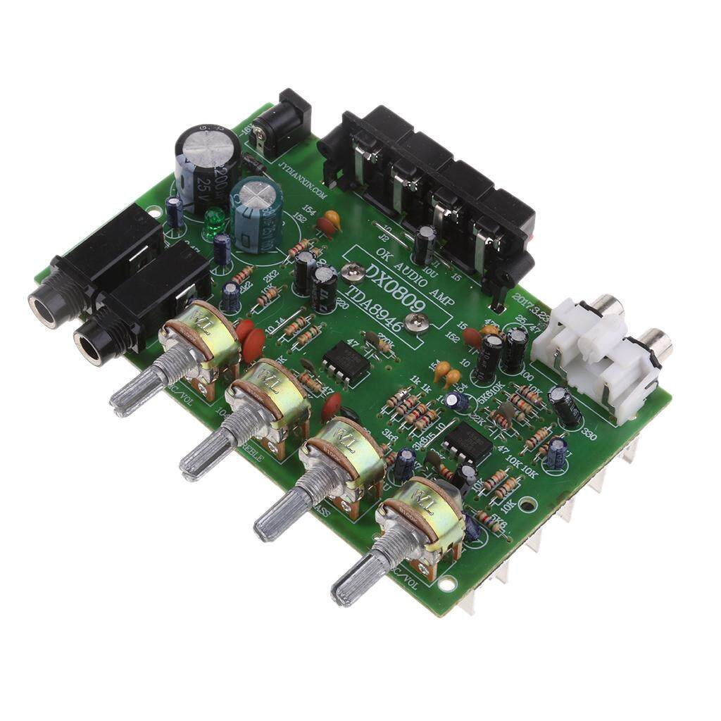 Gazechimp Dx0809 Amplifier 12 V 60 W Puncak Stereo Audio Penguat Daya Papan Diy By Gazechimp.