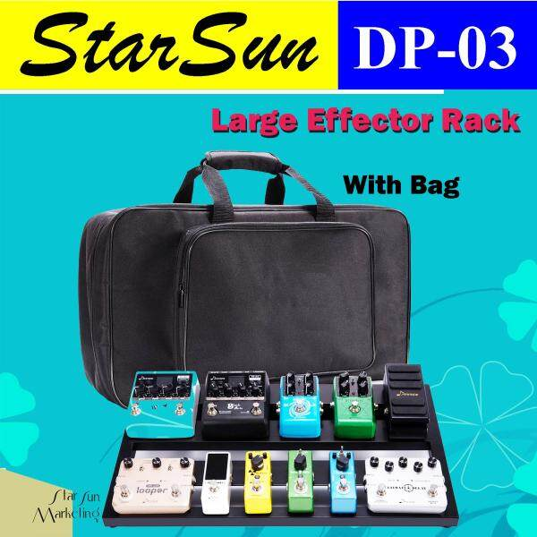 StarSun DP-03 Large Aluminum Alloy Guitar Pedal Board with Carrying Bag Tapes Malaysia
