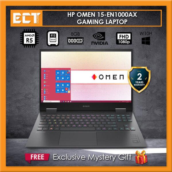 HP OMEN 15-en1000AX Gaming Laptop (R5-5600H 4.2GHz, 512GB, 8GB, NV RTX3060 6GB, 15.6 FHD, W10) Malaysia