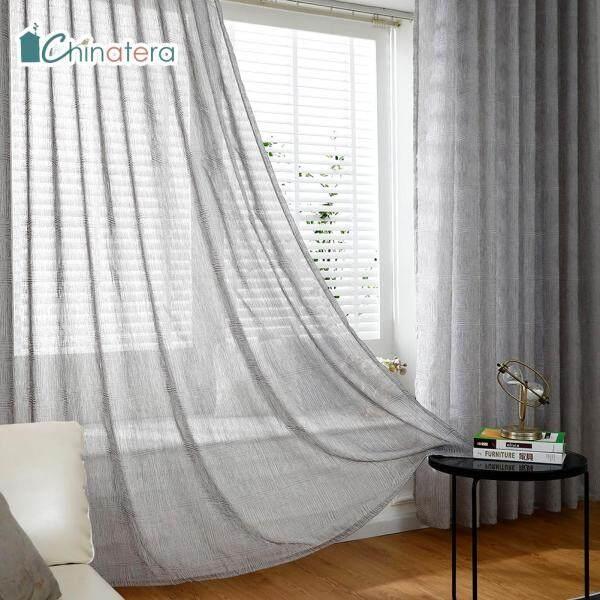 [Chinatera], 1 Chiếc Rèm Vải Tuyn Màu Trơn In Kim Cương Phong Cách Bắc Âu Hiện Đại Rèm Sợi Cửa Sổ Xuyên Thấu Cho Phòng Khách Trang Trí Phòng Ngủ