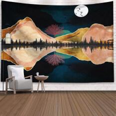 Tấm Thảm Treo Tường Polyester Moon Star Mẫu Tấm Thảm Trang Trí Nội Thất Chăn 95x73cm
