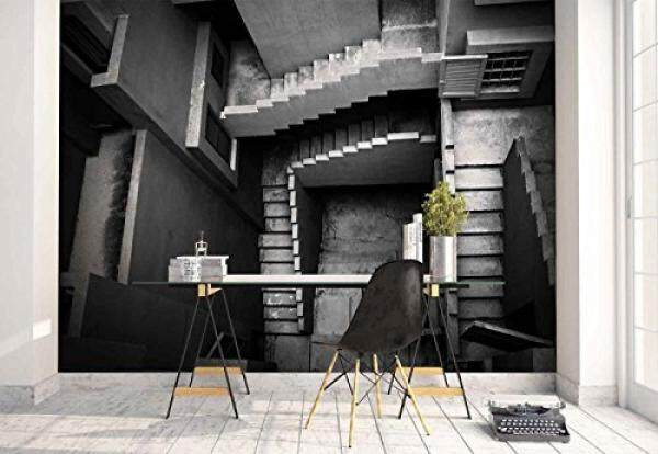 Wallpaper Concrete building stairs interior - building - Wall mural - Wall decoration - Poster picture photo  - HD print - YCRY Modern decorative