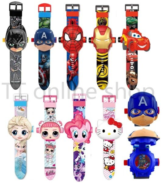 Cartoon Projection Watch Kids Wrist Digital Electronic Projector Children Watch Malaysia