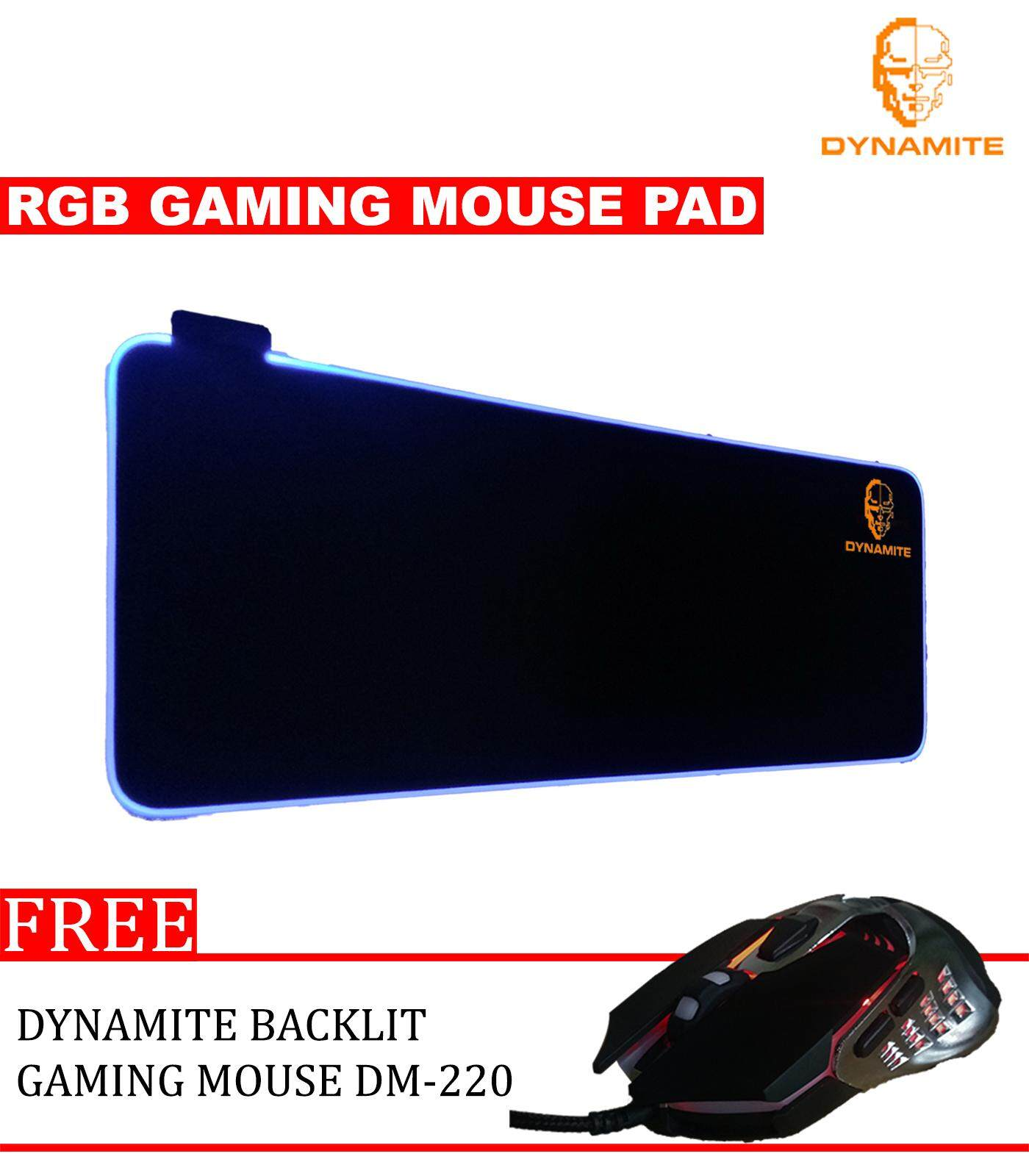 Dynamite RGB Gaming Mouse Pad and Backlit Gaming Mouse DM220 Malaysia