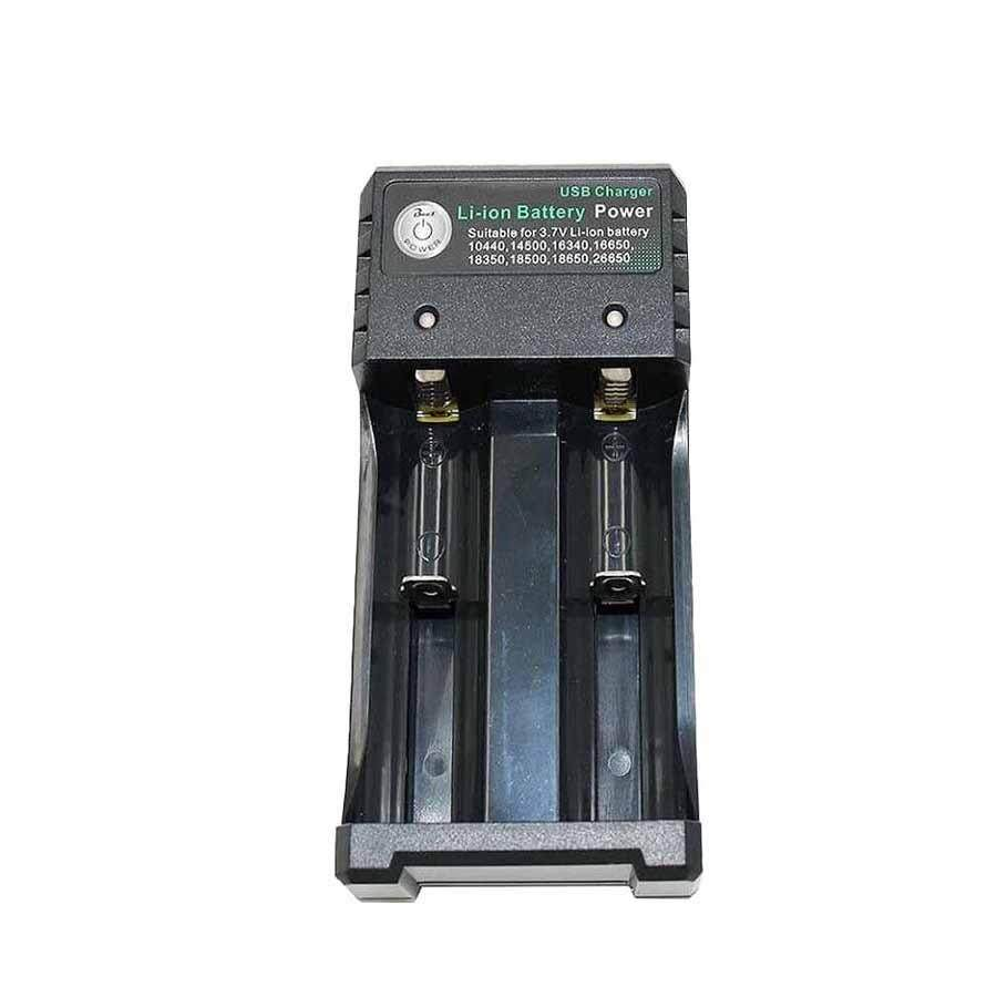 Rechargeable 2-Slot Battery Charger Li-Ion USB Smart Fast Charger For 18350 18500 18650 Battery AAA Li-Ion Battery