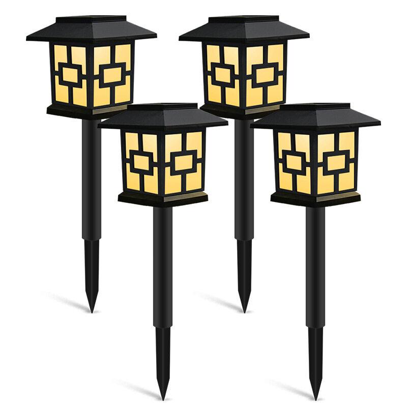 DM Lampu Rumput Tenaga Surya LED, Lampu Malam Tahan Air untuk Jalan Lanskap Taman, Halaman, Teras, Jalan Raya