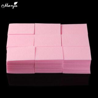 1000 Cái Màu Hồng Nail Art Acrylic UV Gel Polish Remover Sạch Bông Lint Pads Kết Thúc Tốt Đẹp Giấy Lau Công Cụ Làm Móng Tay thumbnail