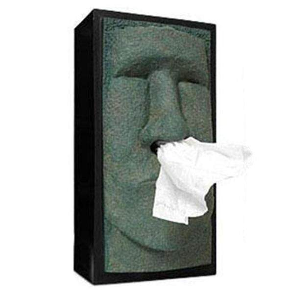 3D Paper Towel Canister Container Stone Portrait Resin Tissue Box Easter Desktop